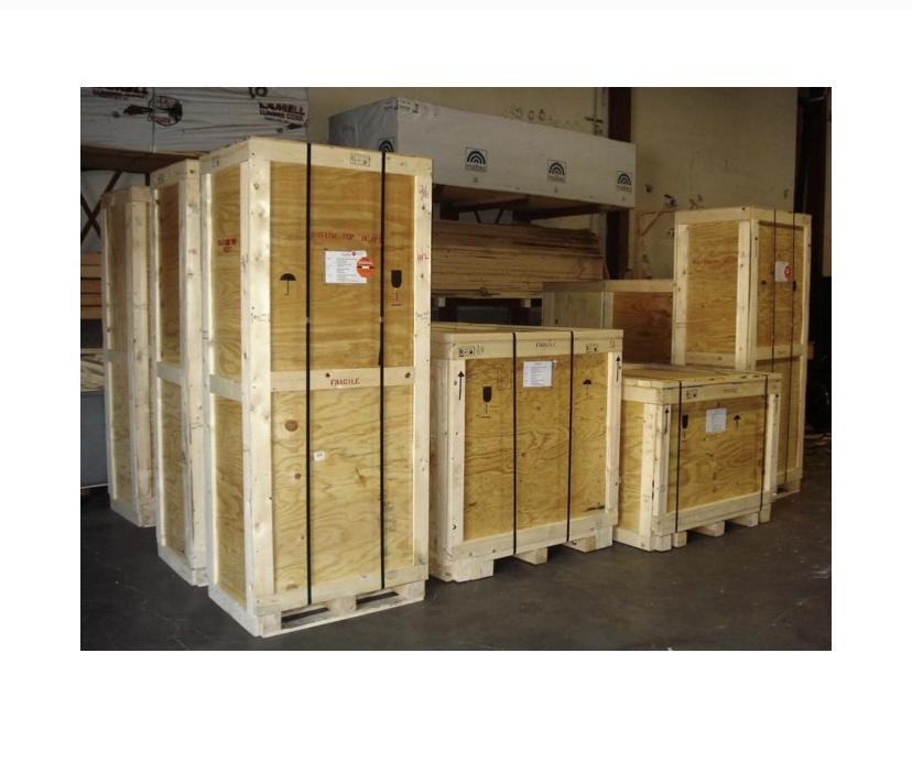 Custom-built moving crates