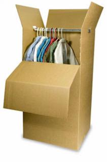 Double walled wardrobe box