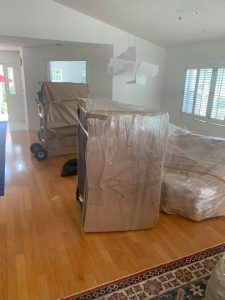 Fully-wrapped furniture