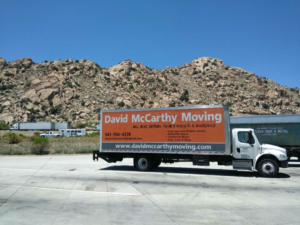 DMM Moving Truck in Front of Mountain